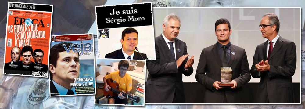 """Sergio Moro não é mais apenas um juiz interessado em levar adiante a Operação Lava Jato; neste domingo, ele revelou, no jornal Estado de S. Paulo, que tem planos para mudar todo o código de processo penal no País; seu objetivo é garantir prisões em primeira instância, sem que os réus tenham o direito de responder em liberdade antes do trânsito em julgado; brasileiro """"que faz diferença"""", desde que foi premiado pela família Marinho, que controla o Globo, Moro tem capital político para levar adiante seu ativismo; neste domingo, Fagner compôs uma canção para o magistrado; no 15 de março, alguns manifestantes saíram às ruas com a camisa """"Je suis Sergio Moro""""; a questão é: será que Moro, mais do que juiz, será também legislador?"""