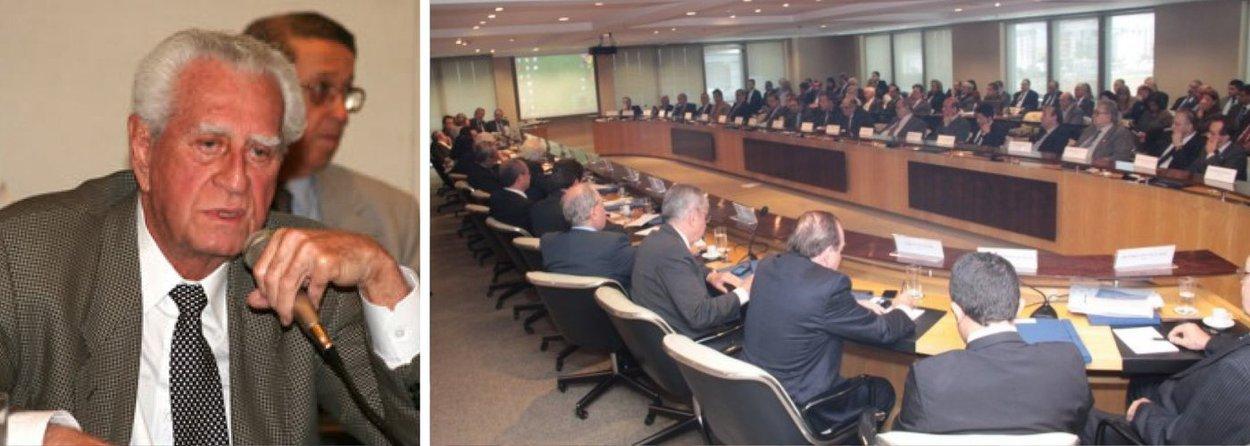 Presidente Antonio Oliveira Santos, reeleito para o cargo, ficará à frente da Confederação Nacional do Comércio de Bens, Serviços e Turismono mandato 2014-2018; evento aconteceu em Brasília