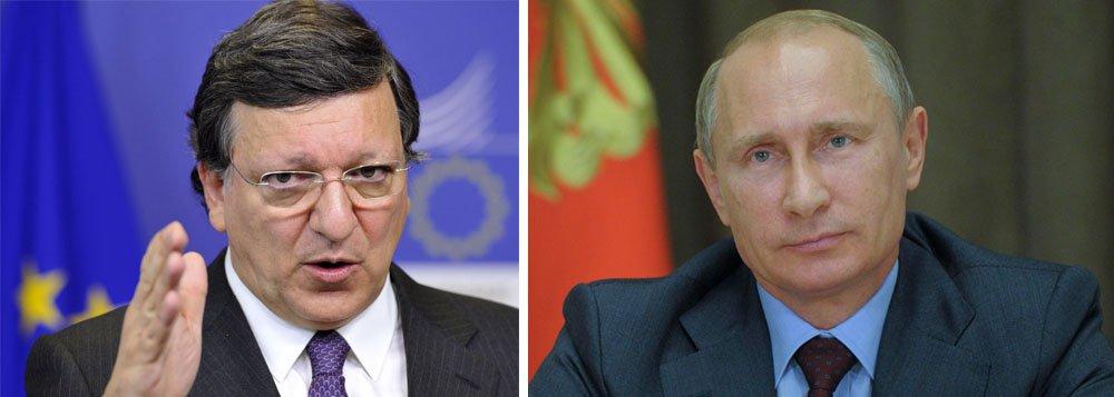 O presidente da Comissão Europeia, José Manuel Barroso, afirmou neste sábado que a União Europeia está preparada para ampliar as sanções contra a Rússia, governada por Vladimir Putin, mas que o bloco também quer que um acordo seja alcançado para encerrar o conflito com a Ucrânia