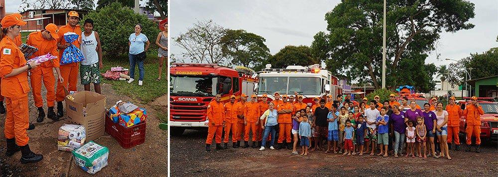 A corporação promove um evento para entregar as doações a três associações da região: a Viver, um projeto social na cidade Estrutural, a Pestalozzi de Brasília, que trata de crianças e adultos com necessidades especiais, e o Instituto Dom Orione, que cuida de crianças abandonadas