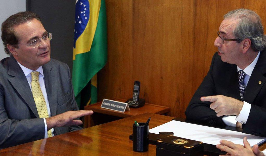 """Presidente do Senado, Renan Calheiros (PMDB) diz que a Agenda Brasil é uma tentativa de afastamento da crise, não de aproximação política: """"Governos têm prazo de validade. A nação é perene. É um equívoco subordinar os interesses do país às aspirações políticas ou partidárias"""", afirma; diante das críticas do presidente da Câmara, Eduardo Cunha (PMDB), ele diz que """"a democracia nos obriga a trabalhar coletivamente. Câmara e Senado são partes de um todo. Embora diferentes, são complementares. As instituições não comportam polarização, tampouco personalizações"""""""