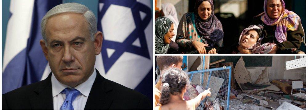 """Israel planeja expropriar 400 hectares na Cisjordânia; """"Seguindo as instruções do poder político (...) 400 dunams em Gevaot são declarados terras do Estado"""", anunciou o exército israelense, do premiê Benjamin Netanyahu; forças armadas acrescentam que as partes afetadas têm 45 dias para apelar; notícia é dada depois da morte de 2.139 palestinos por ataques israelenses"""