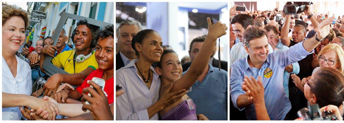 Instituto Datafolha registrou na sexta-feira nova sondagem sobre a disputa pela sucessão presidencial; coleta de dados vai até a quarta-feira (3); na última edição, a ex-senadora Marina Silva apareceu em empate técnico com Aécio Neves (PSDB) no primeiro turno e com Dilma Rousseff (PT) no segundo turno