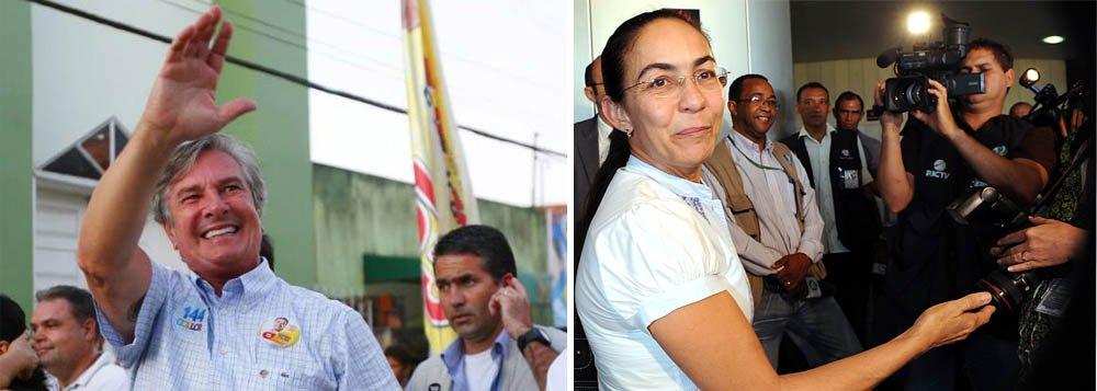 O senador Fernando Collor (PTB) aumentou a vantagem, segundo pesquisa de intenção de votos realizada pelo Instituto Exatta por solicitação do Pajuçara Sistema de Comunicação (PSCOM), na disputa para o Senado Federal em Alagoas, apresentando 41% das intenções de voto; Heloísa Helena (Psol) caiu de 32% para 30%; Omar Coêlho (DEM) cresceu de 2% para 3%