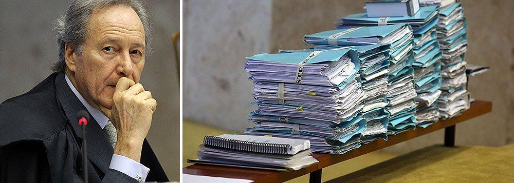 Desde 2006, quando o ministro tomou posse no Supremo, o número de processos do gabinete foi reduzido em 80%. Os 1,7 mil processos que permanecem agora no gabinete, quando ele assume a presidênica da corte, correspondem a apenas 3,3% do acervo atual do STF, que é de 56,7 mil processos
