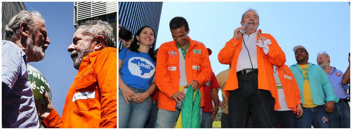 """Líder do Movimento dos Trabalhadores Rurais Sem Terra disse, durante ato pelo pré-sal no Rio de Janeiro, ao lado de Lula, que MST vai estar """"todos os dias aqui em protesto"""" caso a candidata do PSB, Marina Silva, seja eleita presidente; segundo ele, Marina vai entregar a Petrobras à iniciativa privada e não investirá no pré-sal"""