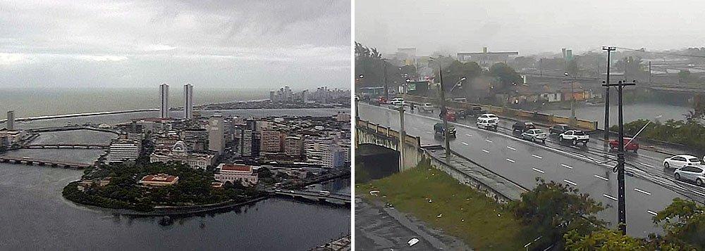 As chuvas que caem no Recife desde o domingo (7) e continuam nesta segunda-feira (8) correspondem a 57% de todo o volume previsto para o mês de setembro; em toda a Região metropolitana do Recife foram registrados pontos de alagamentos, além de vários deslizamentos de barreiras e muros de arrimo e várias árvores caídas; a previsão era que as chuvas chegassem a 122,2 mm durante todo o mês de setembro, mas desde o dia primeiro já foram registrados 90 mm, 73% de todo o volume previsto para o período