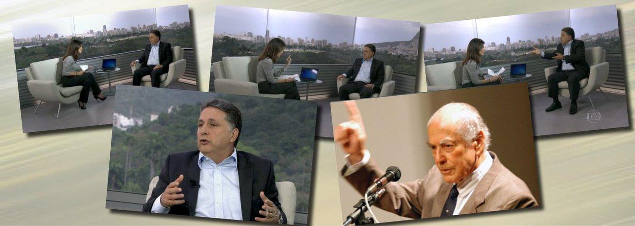 """Ao ser questionado sobre denúncias de corrupção pela jornalista Mariana Gross, do RJTV 1ª Edição, o candidato Anthony Garotinho (PR), que lidera as pesquisas para o governo do Rio,passou para a ofensiva; disse que a Globo responde a processos bilionários por sonegação; """"eu não sei se a Globo é culpada, eu até acho que é"""", disse Garotinho; """"deputado, o tema aqui não é a TV Globo, a Globo não sonegou nada"""", respondeu a repórter; mais adiante, Garotinho tocou em outro ponto fraco da emissora dos Marinho, o apoio à ditadura; candidato lembrou então governador Leonel Brizola, que em 1994 fez Roberto Marinho engolir direito de resposta no Jornal Nacional na voz de Cid Moreira; assista"""
