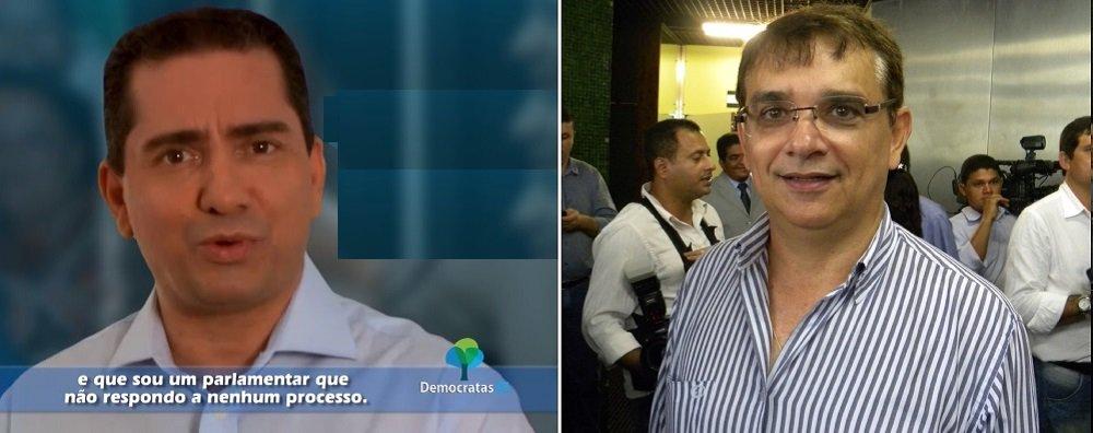Deputado federal Mendonça Prado (DEM) chegou a pedir a prisão do líder político do agrupamento da oposição, Edivan Amorim (PR), a quem acusa de impedi-lo de ser inserido no horário eleitoral de rádio e TV da coligação da qual ambos fazem parte e que tem como candidato a governador Eduardo Amorim (PSC); após ficar sem aparecer em cinco programas, Mendonça, que é candidato à reeleição, foi incluído na inserção do último sábado (30), por determinação judicial; a juíza eleitoral Lidiane Vieira Menezes intimou Edivan e Eduardo para darem explicações sobre o boicote a Mendonça e estabeleceu multa diária de R$ 20 mil, em caso de descumprimento da decisão; ela também determinou a devolução em dobro do espaço perdido por Mendonça nos programas eleitorais