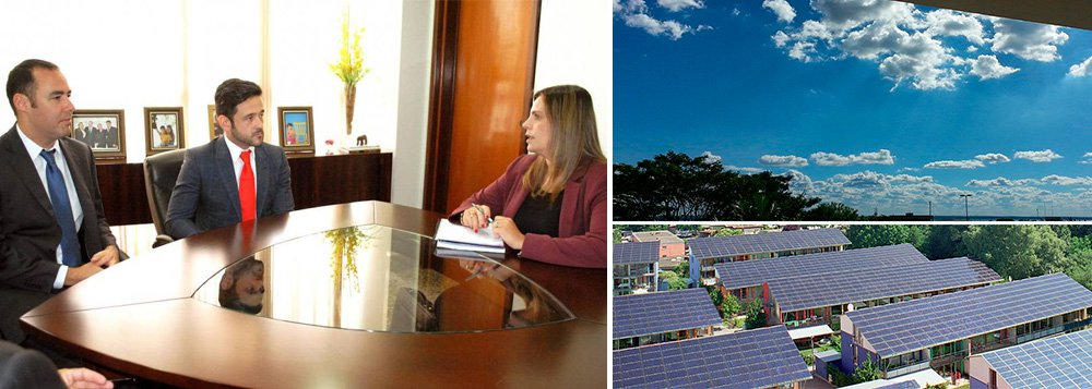 """Tocantins pode receber em breve uma empresa de produção de energia elétrica a partir de células fotovoltaicas; presidente do conselho da holding Sandylon Investments, Rodolfo Toni, que tem no grupo a empresa Soliker Brasil, informou à vice-governadora Cláudia Lélis (PV) a intenção deinstalar uma empresa de 60 a 90 megawatts de geração de energia, com investimentos de cerca de R$ 450 milhões;""""Já existem dois leilões do governo federal para essa atividade que vamos disputar esse ano, nossa pretensão é grande e arrojada e em um curto espaço de tempo queremos implantar o negócio no Tocantins"""", afirmou"""