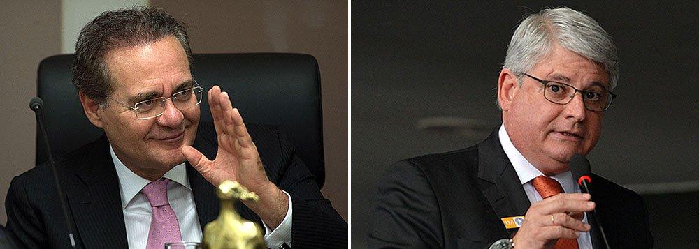 """Citado nos pedidos de investigação de Rodrigo Janot enviados ao Supremo Tribunal Federal, presidente do Senado, Renan Calheiros, critica a condução da operação Lava Jato pelo MP e defende novas regras para recondução do procurador-geral da República: """"Quem sabe se nós, mais adiante, não vamos ter que, a exemplo ao que estamos fazendo com o Executivo, regrar esse sistema que o Ministério Público tornou eletivo"""""""