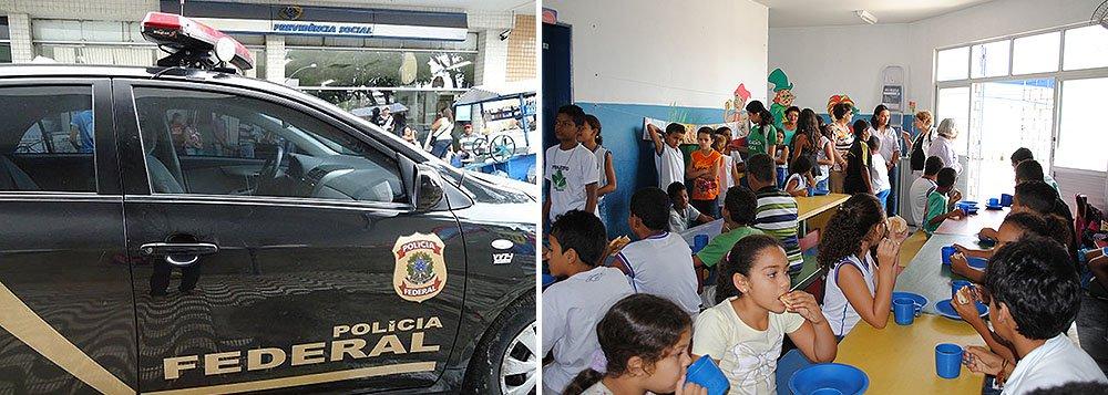 Acusados de fraudar a compra de alimentos com recursos do governo federal em Alagoas deixaram a carceragem da Polícia Federal em Maceió; liberação ocorreu porque a PF não pediu a prorrogação das prisões temporárias; os acusados foram presos na semana passada durante a Operação Farnel