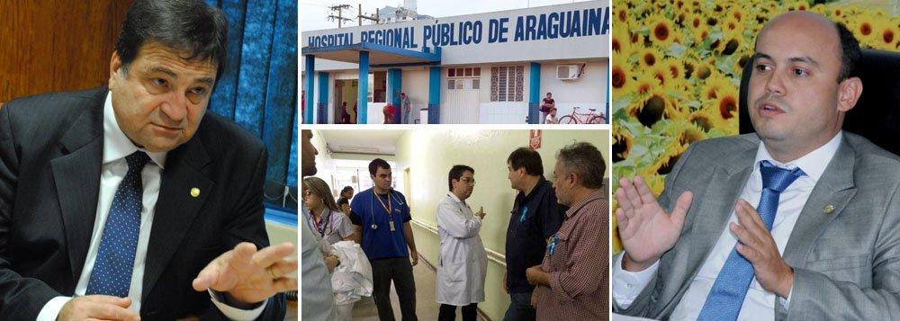"""Deputado federal reeleito César Halum (PRB) visitou nesta segunda-feira, 17, o Hospital Regional de Araguaína (HRA); Halum andou pelos corredores do Hospital ouvindo as reclamações de pacientes e servidorese não poupou críticas ao governador Sandoval Cardoso (SD), seu ex-aliado; """"Gostaria de ver aquele governador que dizia ser tão assíduo, que falava em enfrentar os problemas da saúde de dentro dos hospitais, com essa mesma determinação"""", afirmou; """"O fato de perder ou ganhar a eleição não deve mudar o compromisso, ele tem que valer enquanto o mandato houver"""", completou Halum"""