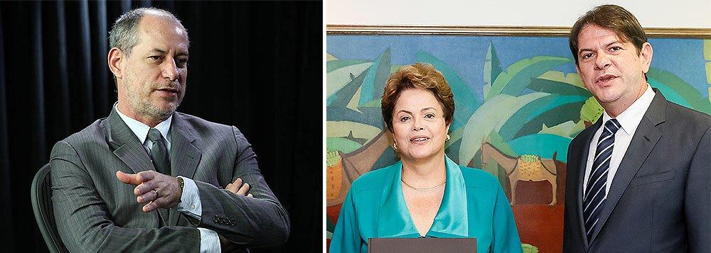 """Ex-ministro Ciro Gomes (Pros) se diz surpreso como a presidente Dilma Rousseff conseguiu se reeleger com a equipe que montou no governo: 'E o problema não é a conciliação com picaretas bem-recomendados pela """"base"""", enquanto a presidenta faz, repleta de sinceridade, um discurso moralista. O pecado do pecador é desculpável, o do pregador, nunca. Ou bem se reproduz a moralidade FHC/lulista de que """"é assim ou não se governa"""", ou conheçamos o exemplo recente de Itamar Franco, que governou sem conciliar com a ladroagem'; no início da semana, seu irmão, o governador do Ceará Cid Gomes, apresentou a Dilma a proposta de criação de uma frente de esquerda ou até um novo partido de apoio a seu governo para garantir a governabilidade no segundo mandato"""