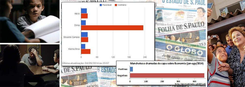 """A oposição começa a dizer-se preocupada com a agressividade da campanha eleitoral do PT, """"mas também é certo que, de janeiro para cá, o governo Dilma se encontra sob ataque permanente"""", escreve Paulo Moreira Leite, em novo artigo no 247; ele recorda os números do manchetômetro, pesquisa da UERJ sobre os principais jornais do País; """"O saldo é o seguinte: para cada notícia positiva, Dilma encara 25 notícias negativas""""; sobre a cobertura de economia, o contraste é de 400 contra 10; e questiona: """"Agressividade, desigualdade? Não. 400 a 10. 25 contra 1. Esta é a disputa"""""""