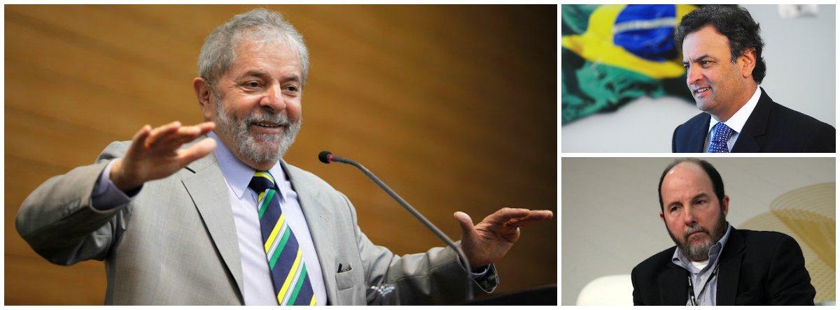 """Ex-presidente reforça linha de campanha de confronto direto com o PSDB; """"O FMI, que estava quietinho, já está dando palpite novamente"""", alertou Lula, em entrevista à revista Carta Capital; """"A vitória de Aécio seria a vitória do mundo que não deu certo""""; ex-presidente respondeu colega Fernando Henrique, que considerou o voto na presidente Dilma Rousseff como do eleitor desinformado; """"É lamentável um cientista político estudioso como o Fernando Henrique ter pronunciado uma frase tão agressiva contra o eleitor""""; Lula disse estar """"preocupado""""; """"Será que as pessoas estão entendendo que o que está em jogo são dois projetos diferentes?"""""""