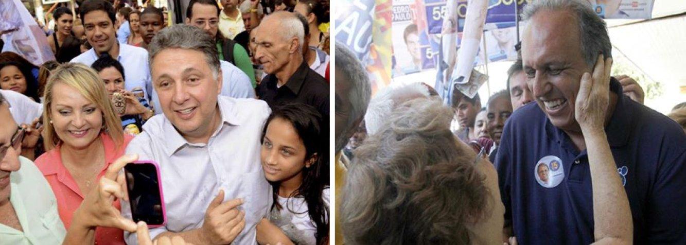 De acordo com o instituto, os dois candidatos devem disputar o segundo turno no Rio de Janeiro; enquanto o ex-governador Anthony Garotinho, do PR, tem 26%, o atual, Luiz Fernando Pezão, do PMDB, foi a 25%; no segundo pelotão aparecem Marcelo Crivella, do PRB, com 17%, e Lindberg Farias, do PT, com 9%