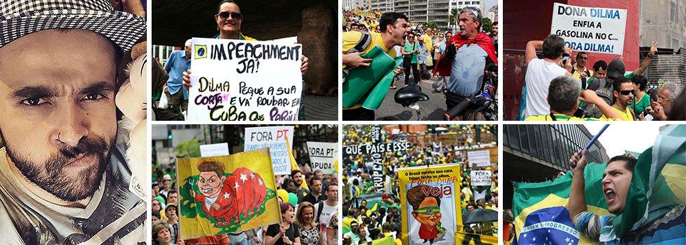 """Rafael Esteves relatou no Facebook como foi expulso de um vagão de metrô em São Paulo, no dia das manifestações, porque estava vestindo uma camisa vermelha, aos gritos de """"vai pra Cuba"""" e """"comunista bom é comunista morto""""; detalhe: Rafael não é petista e usava uma camisa do seriado Friends; além dele, foi também expulsa do vagão uma senhora de 75 anos, que protestou contra os gritos da turma ensandecida; o nome disso, como lembrou a jornalista Conceição Oliveira é fascismo; ou melhor F-A-S-C-I-S-M-O"""