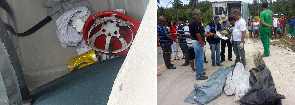 A Polícia Civil vai abrir inquérito para apurar as causas do acidente ocorrido na madrugada desta sexta-feira (6), em Jequiá da Praia, que matou os irmãos Aldemir Bruno dos Santos Filho, de 5 anos, Aldemir Vítor dos Santos Filho, de 9 anos, e José Antônio de Lima Santos, de 12 anos, que estavam dormindo quando o acidente aconteceu; o condutor da carreta que tombou da ponte e atingiu casas situadas às margens da rodovia fugiu do local e está sendo procurado; há suspeita de que ele tenha consumido bebida alcoólica e dormido ao volante; uma lata de cerveja foi encontrada dentro do veículo