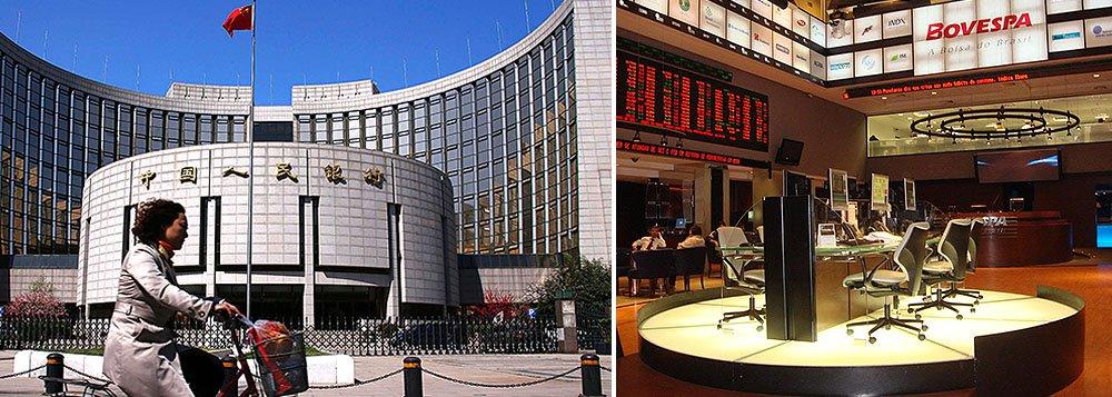 Banco central chinês cortou de modo inesperado as taxas básicas de juros nesta sexta-feira intensificando os impulsos para crescimento na segunda maior economia do mundo; notícia influenciou para que o Ibovespa abrisse em alta