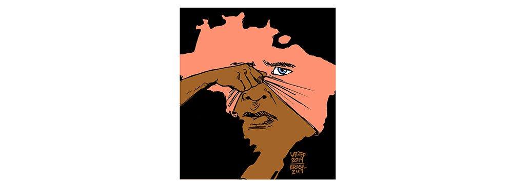 O Dia da Consciência Negra é a data ideal para os brasileiros refletirem sobre o racismo, o preconceito, o mito da democracia racial e a verdadeira identidade nacional; charge de Carlos Latuff