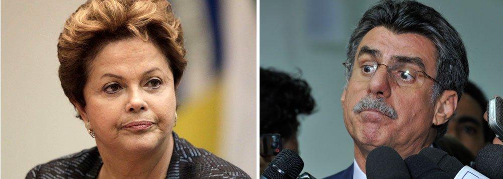 """'Governo da presidente Dilma Rousseff é o Titanic em marcha acelerada em direção ao iceberg"""", afirma o senador Romero Jucá (PMDB-RR); segundo ele, se não houver mudança de rota, o choque será inevitável; citado na lista do procurador-geral, Rodrigo Janot, sobre o caso de corrupção na Petrobras, ele diz que """"ser investigado não é demérito""""; """"Demérito é ser condenado"""""""
