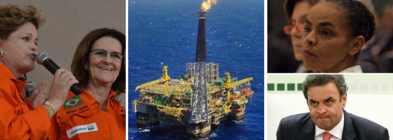 """Agência Nacional de Petróleo informa que extração em todo o País cresceu 14,9% entre julho do ano passado e julho deste ano; apenas na área do pré-sal, produção aumentou 62%; novo recorde nacional foi batido,agora em 2,267 milhões de barris/dia; presidente Dilma Rousseff criticou adversária Marina Silva por dedicar """"em 242 páginas de programa, apenas uma linha ao pré-sal"""";PSDB de Aécio Neves atacou Petrobras em seminário, mas empresa vai somando recursos com petróleo novo para bancar todo o seu plano de investimentos até 2017; pré-sal no centro da campanha"""