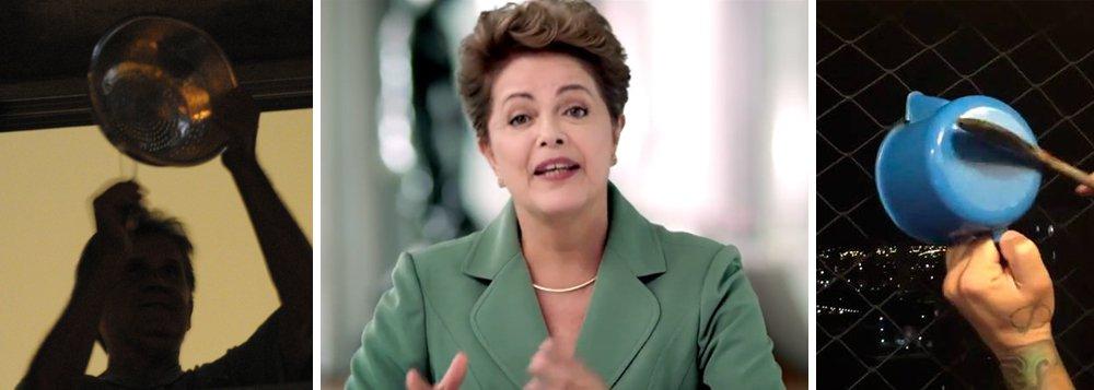 """""""A campanha publicitária contra a presidente Dilma tenta, diariamente, dar a impressão de que o governo acabou e que os eleitores de outubro fugiram. Quem viu a cobertura do discurso da presidente, ontem a noite, pode até achar que a única reação dos brasileiros foi abrir a janela para fazer uma batucada numa frigideira e depois assumir o volante do carro para buzinar pela vizinhança. Nada mais falso"""", diz ele; segundo ele,a consultoria Bites mostra uma situação bem diferente nas redes sociais; """"até às 22.23hs, a expressão panelaço, usada de várias formas por internautas adversários do governo, totalizou 24.330 tweets. Já o hashtag #dilmadamulher, de aliados de Dilma, que fez um pronunciamento no Dia Internacional da Mulher, bateu num número 50% maior: 34.245""""; leia a íntegra"""