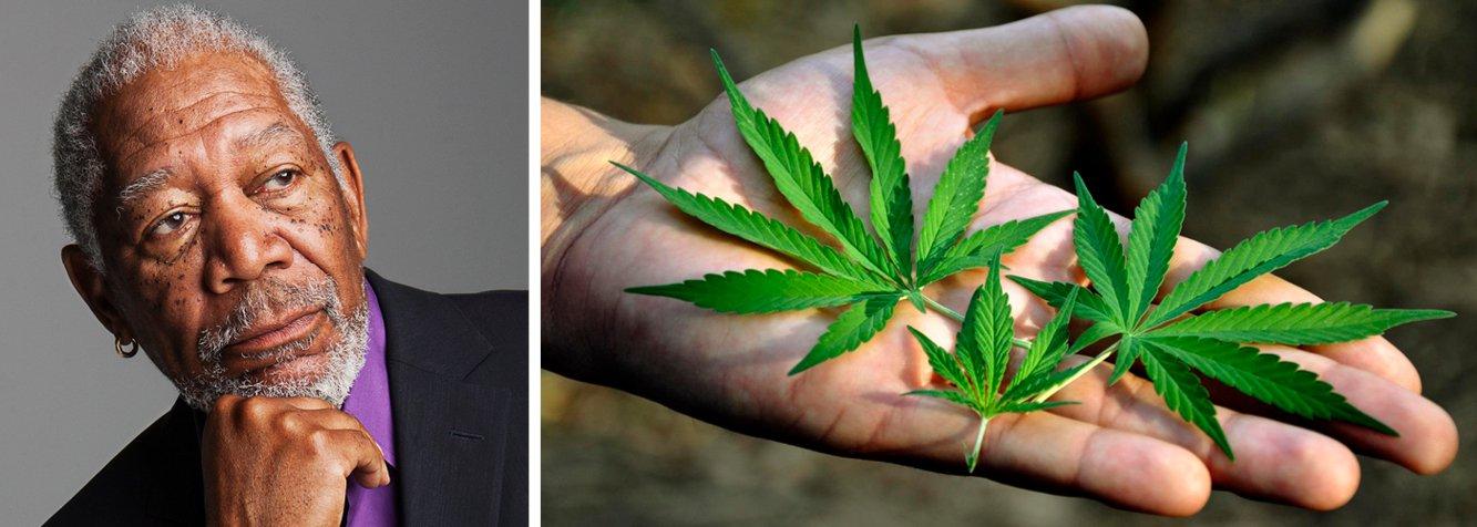 """O ator americano Morgan Freeman, 77 anos, defendeu em entrevista ao""""Daily Beast"""" a legalização do uso recreativo da maconha; """"Minha mulher me apresentou há muitos anos. Como eu uso? De qualquer jeito que vier! Eu como, bebo, fumo e cheiro"""", afirmou; """"Esse movimento [de legalização] está vindo há muito tempo, e está ganhando pernas —pernas longas"""", completou; ator disse que sofre de fibromialgia,doença que provocador crônica e se manifesta especialmente nos tendões e nas articulações; """"A única coisa que me dá algum alívio é a maconha"""", afirmou"""