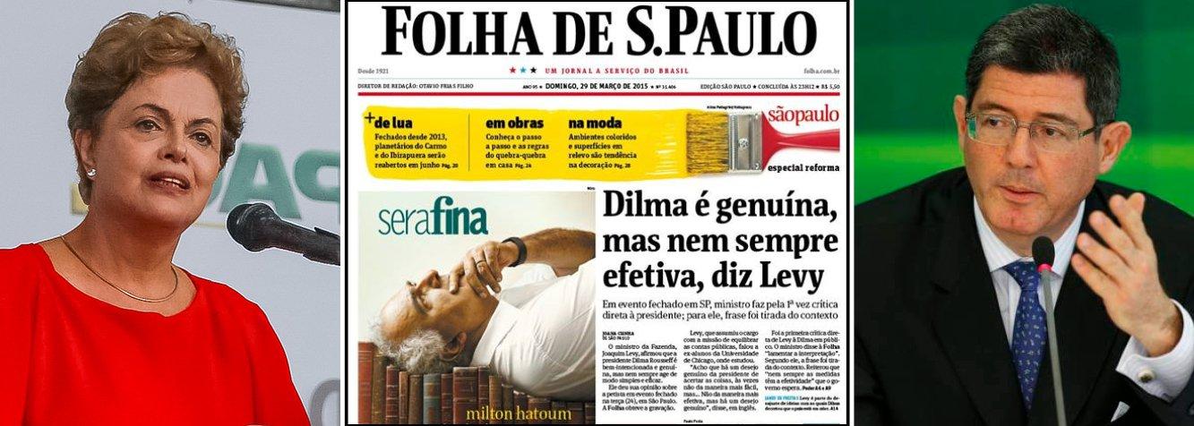 """Presidente declarou ter """"clareza"""" de que o ministro da Fazenda foi """"mal interpretado"""" em declaração nos Estados Unidos; jornal Folha de S. Paulo noticiou na manchete de domingo que Levy teria dito que Dilma nem sempre faz as coisas de maneira fácil e efetiva,embora tenha o desejo genuíno de acertar; o ministro, que já havia lamentado o episódio em nota, negou hoje ter criticado a presidente e acrescentou ter """"enorme afinidade"""" com Dilma Rousseff;mercado reage bem ao apoio de Dilma a Levy; dólar e juros caem, bolsa sobe"""