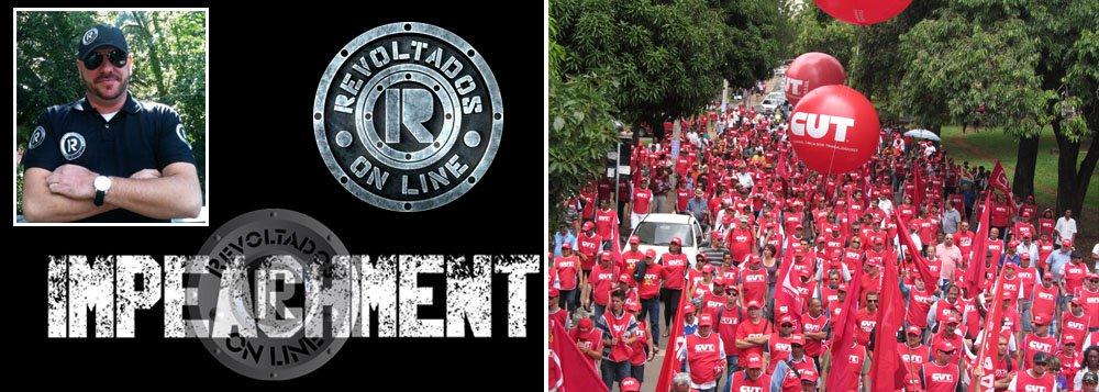 """""""Tomara que haja confronto"""", diz Marcelo Reis, que lidera o grupo Revoltados Online, que tentará realizar manifestação simultânea à da Central Única dos Trabalhadores, no Rio de Janeiro e em São Paulo; ele promete também fazer todas as ações possíveis contra o 'sapo barbudo, referindo-se ao ex-presidente Lula; CUT pediu ao governo de São Paulo que garanta a ordem e o direito de manifestações pacíficas"""