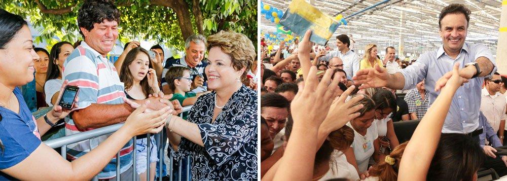 É o que revela a pesquisa DataTempo/CP2; segundo o levantamento,a presidente Dilma Rousseff (PT) lidera a corrida presidencial em Minas Gerias, com 36,1%, seguida por Aécio Neves (PSDB), com 26,5%; no levantamento anterior, a petista tinha 33,8%, e o tucano, 41,2%; a presidenciável pelo PSB, Marina Silva, aparece na terceira posição, com 20,5%
