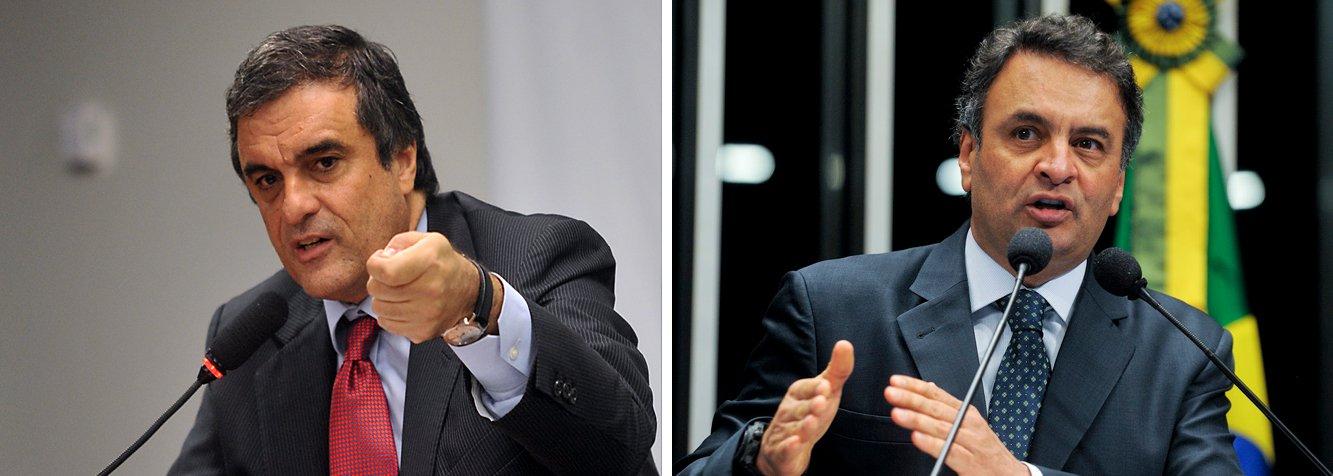 """O ministro da Justiça, José Eduardo Cardozo, rebateu as acusações do senador Aécio Neves (PSDB-MG) de que o governo atuou para incluir nomes da oposição na lista de investigados por participação na esquema de corrupção na Petrobras; """"Posso afirmar em alto e bom som: se, no passado, governos agiam dessa maneira, não nos meçam por réguas antigas, pelo que já foi"""", afirmou"""