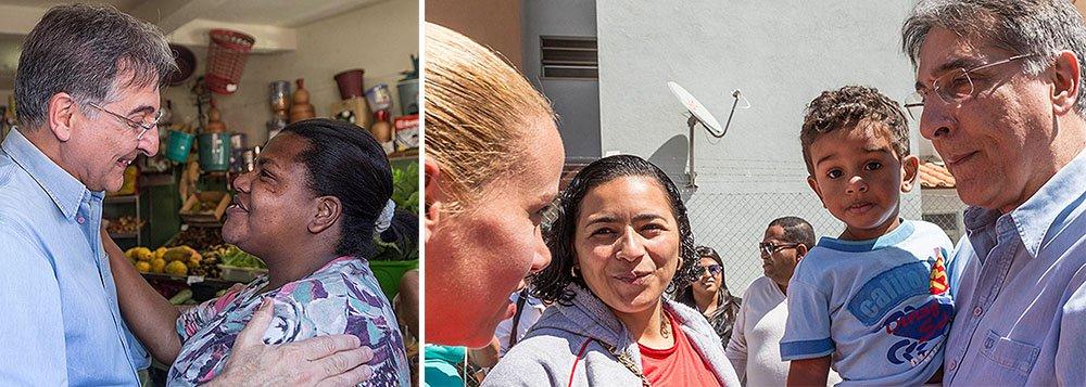 O candidato ao governo de Minas Fernando Pimentel (PT) voltou a defender o aporte de recursos específicos para enfrentar a violência contra a mulher e a construção de políticas regionalizadas, com participação da sociedade civil e apoio do governo federal; o petista também propõe a criação dos Fóruns Regionais de Políticas para as Mulheres, nas 10 macrorregiões do estado; segundo o TJ-MG, pelo menos 1,8 mil novos processos referentes a agressões contra mulheres chegam mensalmente para julgamento em Belo Horizonte