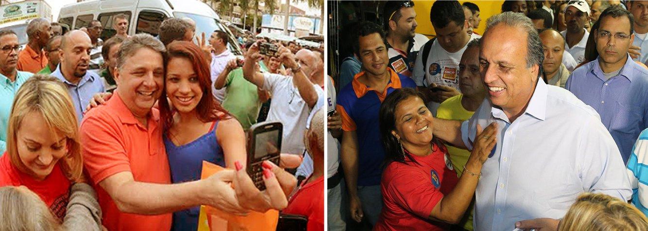 Instituto aponta polarização entre o ex-governador Anthony Garotinho e o atual, Luiz Fernando Pezão; ambos têm 25%; a menos de um mês das eleições, Marcelo Crivella e Lindberg Farias vão ficando para trás