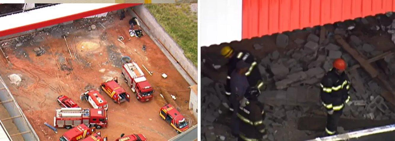 Segundo o Corpo de Bombeiros, o acidente na Região Metropolitana de São Paulo ocorreu por volta das 11h e as duas pessoas foram encontradas já mortas