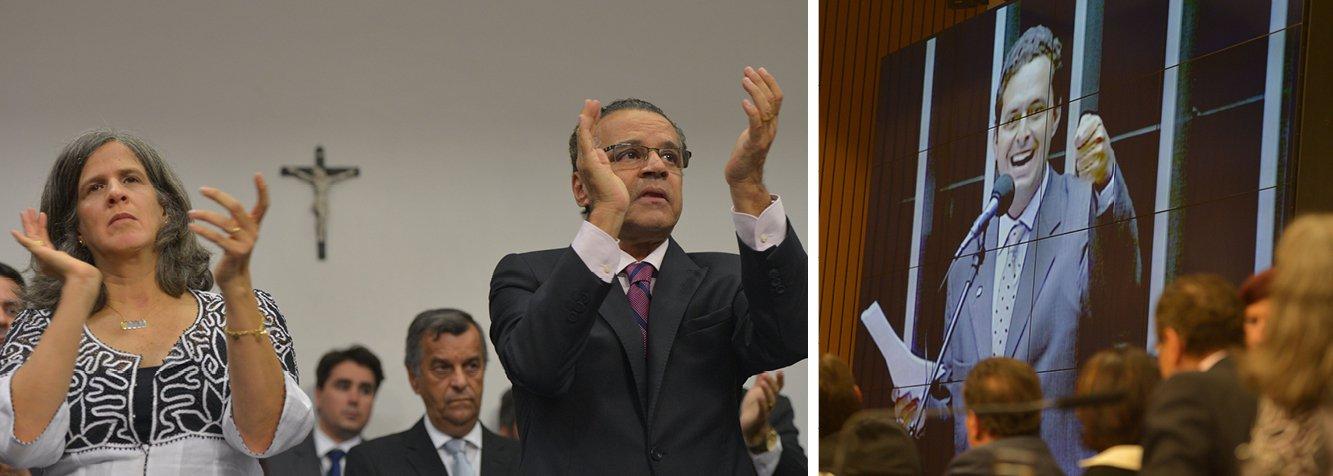 """Renata Campos, viúva do ex-governador Eduardo campos (PSB), agradeceu, durante sessão solene realizada na Câmara dos Deputados, nesta terça-feira (2), a """"força e o carinho"""" do povo pernambucano sem o qual """"seria insuportável"""" lidar com a morte trágica do marido em um acidente aéreo ocorrido no último dia 13 de agosto, em Santos (SP); Renata disse ainda que sem Campos o """"Brasil jamais será o mesmo"""", mas que """"homens com ideias não morrem"""""""