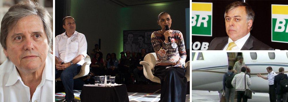 """Candidata é dura ao apontar o que seriam, segundo ela, práticas da """"velha política"""", como o """"apadrinhamento"""" e a """"corrupção"""" no caso da Petrobras, mas afirma que """"não quer uma segunda morte de Eduardo Campos por leviandade""""; ex-governador de Pernambuco foi citado pelo delator Paulo Roberto Costa, ex-diretor da Petrobras, como um dos beneficiados do esquema do doleiro Alberto Youssef em contratos com a estatal; e foi chamado por Costa para testemunhar em sua defesa, tarefa da qual que ele conseguiu escapar; """"Isso acontece porque o moralismo — que é uso seletivo e maroto de princípios éticos com fins políticos — é uma moeda de troca eleitoral"""", constata Paulo Moreira Leite;ele lembra ainda, no blog do 247, do caso do jato fantasma, usado – mas não explicado – pela presidenciável do PSB"""