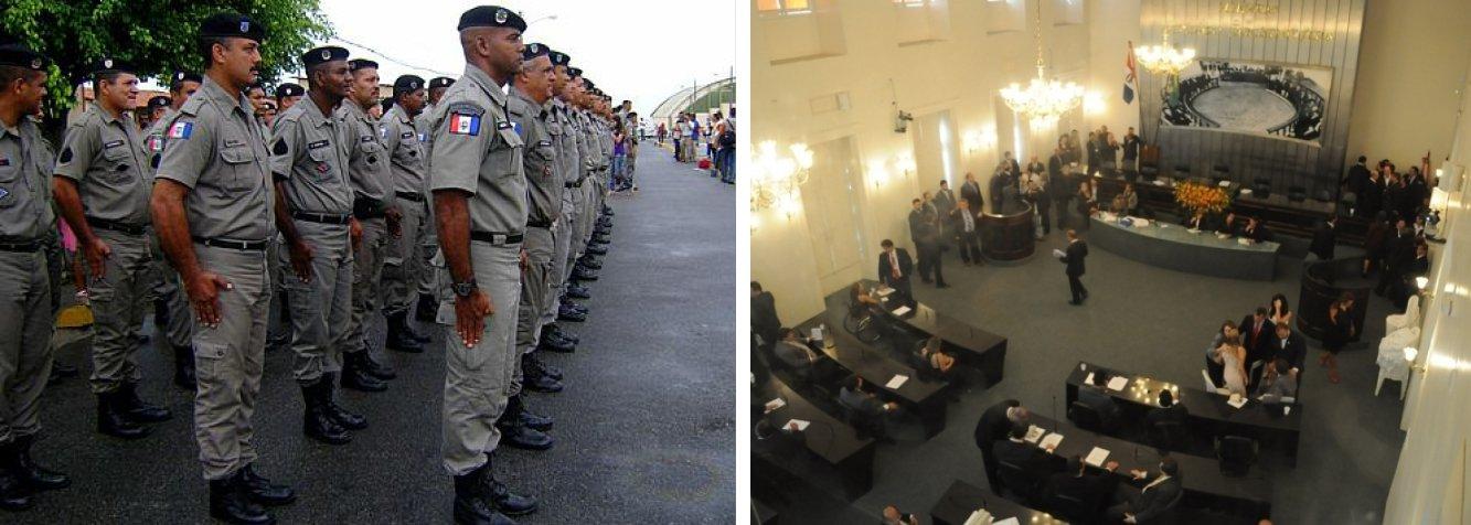 Os deputados estaduais derrubaram o veto total do governador Teotonio Vilela ao projeto de lei que trata sobre promoções na PM alagoana; decisão foi unânime; governo pode recorrer