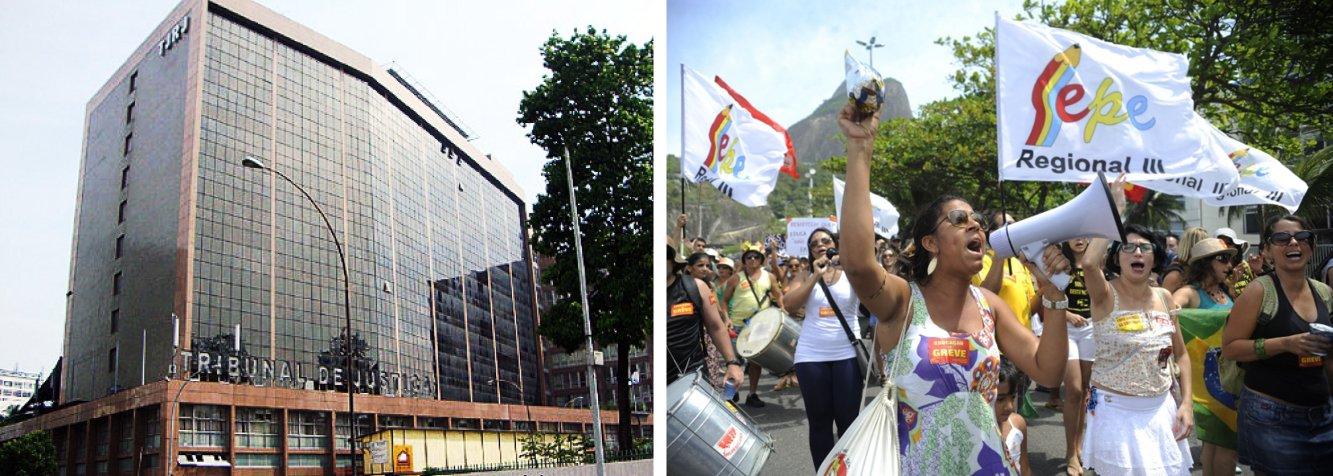 O Tribunal de Justiça do Estado do Rio de Janeiro (TJRJ) anulou a liminar concedida pela desembargadora Cláudia Pires dos Santos Ferreira, da Sexta Câmara Cível, em favor do Sindicato Estadual dos Profissionais da Educação (Sepe-RJ); a liminar impedia a aplicação de falta ou atos administrativos punitivos aos servidores que se recusaram a assumir realocações de trabalho após a greve, entre os dias 12 de maio e 27 de junho deste ano