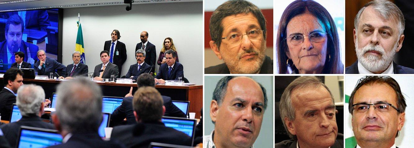 A CPI da Petrobras aprovou nesta quinta-feira, 5, a convocação dos ex-presidentes da Petrobras Sérgio Gabirelli e Graça Foster, além dos ex-diretores Paulo Roberto Costa (Abastecimento), Renato Duque (Serviços) e Nestor Cerveró (Internacional), além do ex-gerente Pedro Barusco, que se comprometeu a devolver US$ 100 milhões obtido ilegalmente; como o247já havia antecipado, o presidente da CPI, Hugo Mota (PMDB), aprovou a contratação da Kroll, empresa de investigação que irá rastrear contas no exterior e obter a recuperação de recursos desviados da Petrobras