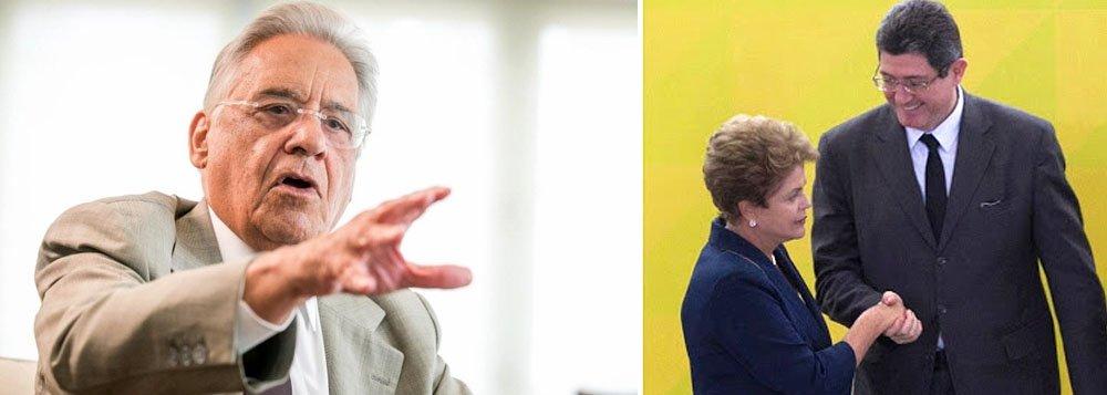 """Ex-presidente tucano FHC questionou, em palestra em São Paulo, as possibilidades do ajuste funcionar: """"É uma situação difícil para a presidente Dilma. Ela ganha dizendo que vai continuar o crescimento político e tem que tirar o pé do aceleradore frear de repente. O mais dramático é ter que nomear como tzar da economia alguém que pensa o oposto dela. Duvido que isso dê certo""""; segundo ele, os problemas econômicos que o País enfrenta começaram no segundo mandato do presidente Lula, no momento em que resolveu manter uma política de estímulo ao consumo, mas sem realizar investimentos"""