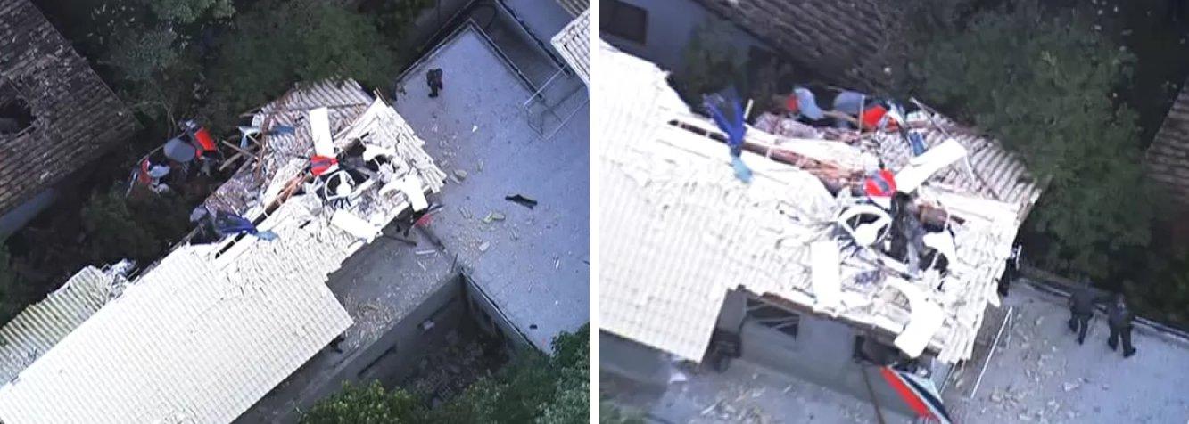 Aeronave caiu sobre uma obra em Barueri, na região metropolitana de São Paulo; a queda do helicóptero, ainda não esclarecida, caiu sobre o telhado de uma casa em construção; não há informações sobre feriados entre quem estava em terra