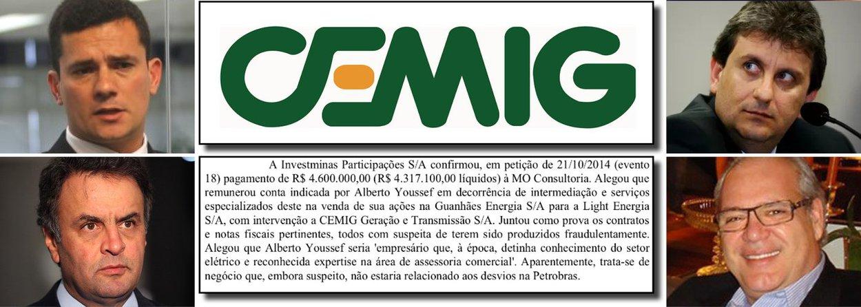 """Estratégia tucana de trabalhar pelo impeachment da presidente Dilma Rousseff, conforme sinaliza a nota divulgada neste sábado pelo senador Aécio Neves (PSDB/MG), esbarra num inquérito policial citado pelo juiz Sergio Moro, em seu despacho que resultou na prisão de empreiteiros e do ex-diretor da Petrobras, Renato Duque; trata-se do inquérito 5045104-39.2014.404.7000, que investiga uma comissão de R$ 4,6 milhões paga pelo empresário Pedro Paulo Leoni Ramos ao doleiro Alberto Youssef, na venda de pequenas centrais hidrelétricas à Light, controlada pela Cemig; em seu despacho, o juiz Moro afirma: """"trata-se de negócio que, embora suspeito, não estaria relacionado aos desvios na Petrobras""""; a questão é: na Cemig pode?"""