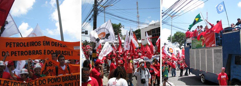 O Dia Nacional de Luta, organizado pelas centrais sindicais e movimentos sociais, em Fortaleza, contou com grande adesão. Além do setores organizados, houve grande adesão de populares. Na mídia local, a participação varia entre 500 e 3 mil participantes. Na avaliação da CUT, 5 mil manifestantes estiveram presentes