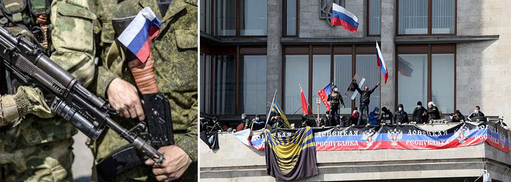 """""""A milícia começou a recuar suas unidades de artilharia com calibre superior a 100 milímetros no sul da república"""", disse Denis Pushilin, vice-presidente do """"conselho popular"""" dos separatistas, um órgão de liderança"""