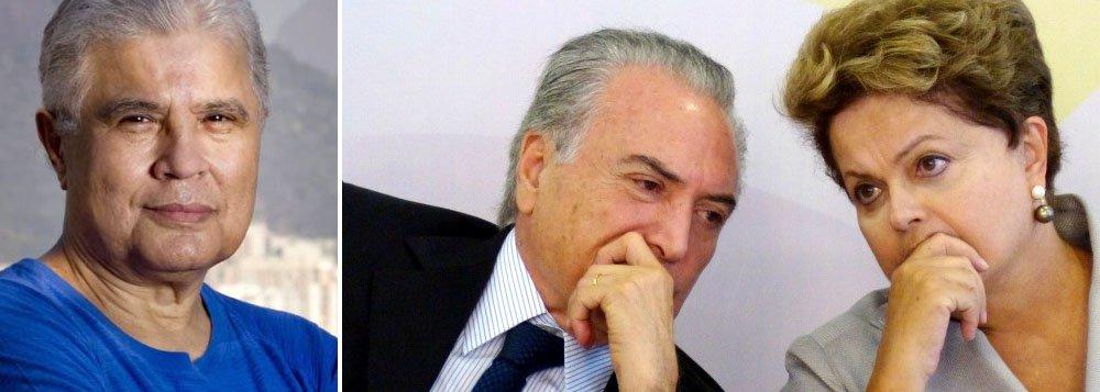 """Jornalista Ricardo Noblat reconstitui, de maneira totalmente inverossímil, o encontro em que o vice-presidente Michel Temer teria sido convidado pela presidente Dilma Rousseff para assumir a coordenação políitca; """"Só me resta você. Você terá de aceitar a coordenação. Do contrário, o governo poderá não se manter"""", teria dito Dilma, na peça de ficção escrita por Noblat"""