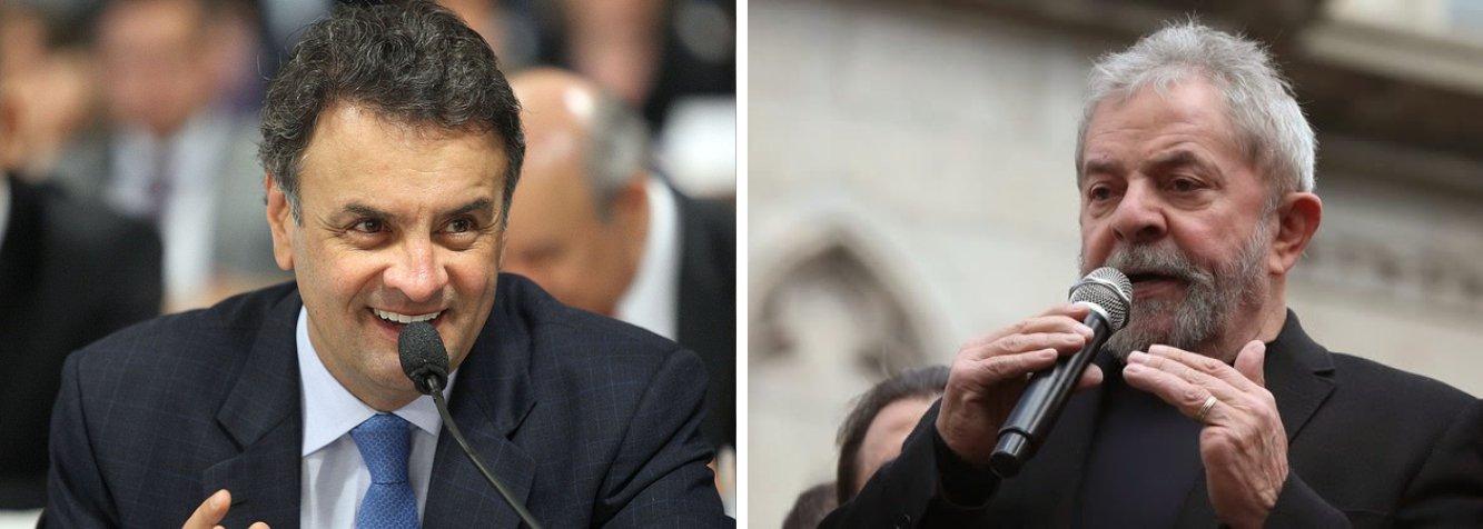 Senador tucano teria 37,1% dos votos se as eleições para presidente do Brasil fossem hoje; em uma mostra que inclui Maria Silva, a ex-senadora ficaria em segundo lugar, com 24,3%, à frente do ex-presidente Lula, que teria 17,9%; sem Marina, o cenário seria de 51,5% dos votos para Aécio Neves e 27,2% para o petista