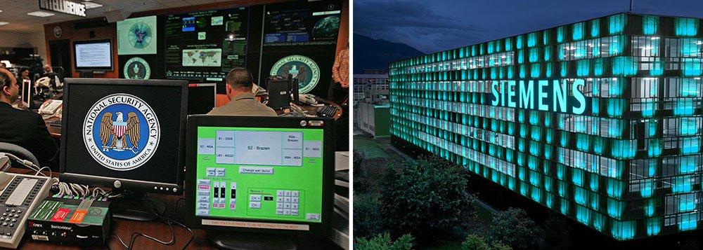 A Agência de Segurança Nacional dos Estados Unidos (NSA, na sigla em inglês) tentou espionar o grupo industrial Siemens com a ajuda da inteligência alemã, informou o jornal Bild am Sonntag em um novo episódio potencialmente constrangedor para a chanceler Angela Merkel