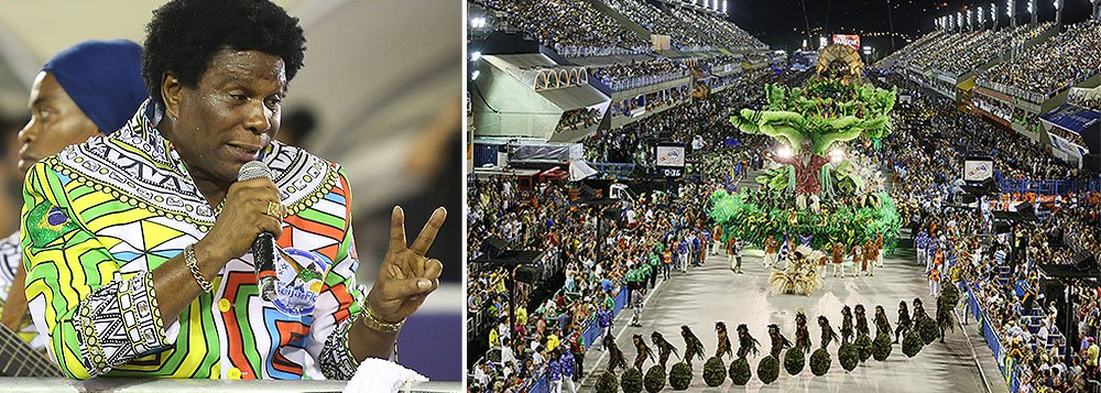 """Intérprete da escola campeã do Carnaval do Rio, ele rebateu a polêmica sobre o suposto patrocínio da Guiné Equatorial: """"Se não fosse a contravenção meter a mão no bolso, organizar, ainda estaria naquele negócio de armar e desarmar, arquibancada caindo, desfile terminando às 14h. Cada escola desfilando 2 ou 3 horas, a hora que quer. Se temos hoje o maior espetáculo do planeta, agradeça à contravenção"""""""